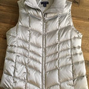 Land's End silver puffy vest